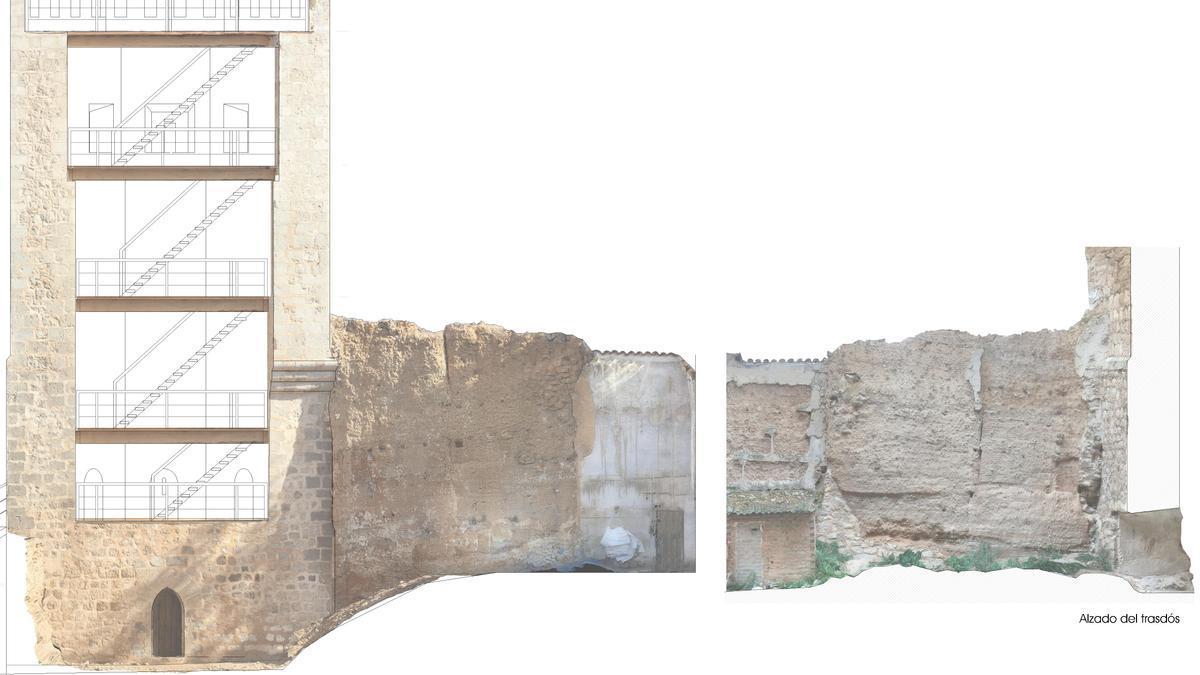 Recreación del proyecto de restauración de la muralla sobre imágenes actuales