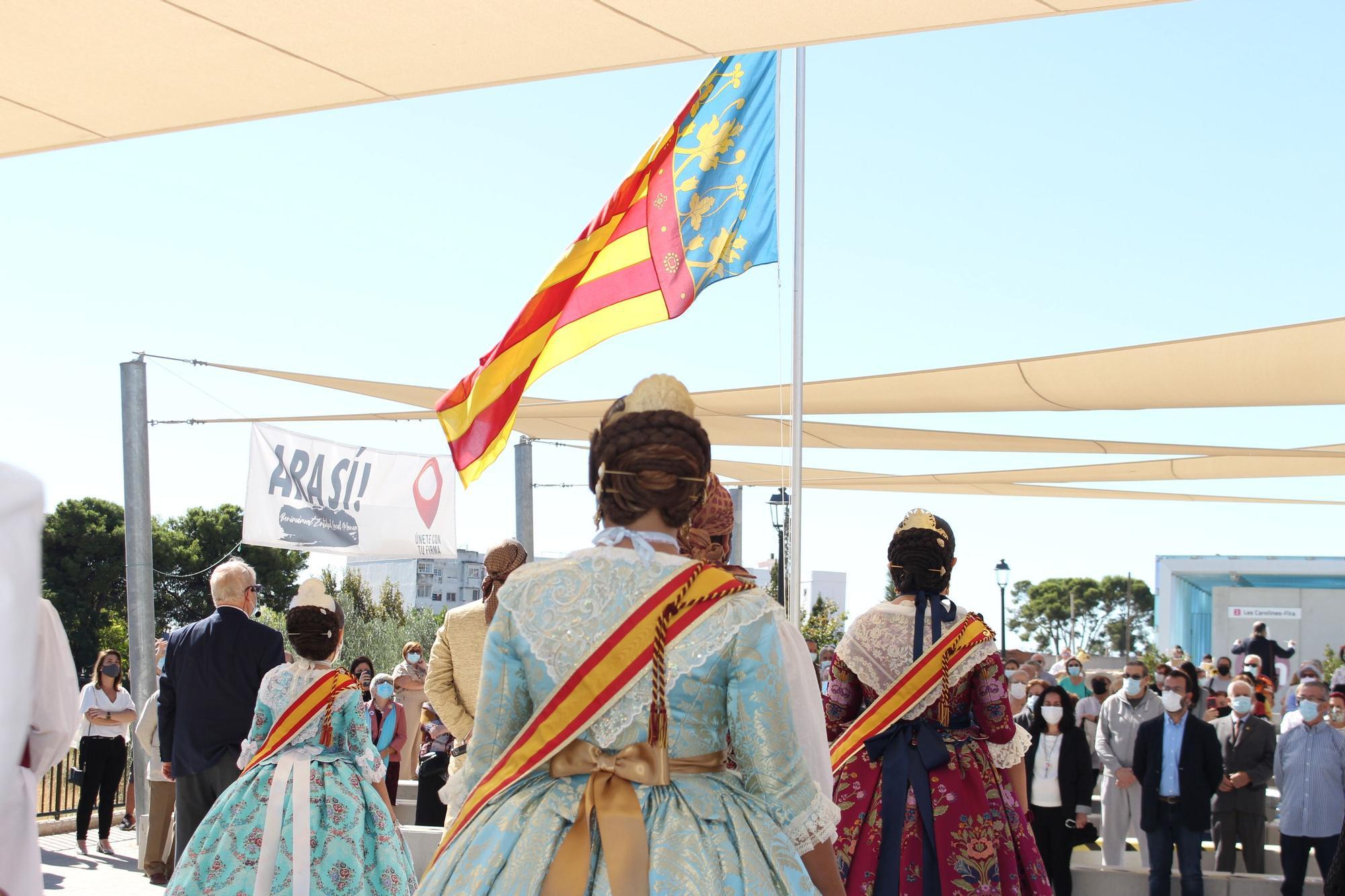 Homenaje a la Senyera en Benimàmet