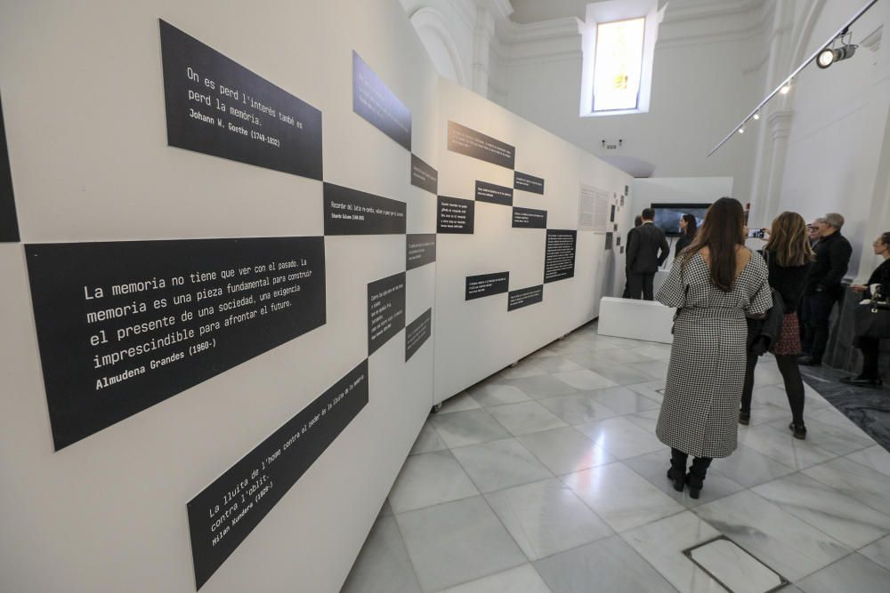 Exposición sobre la memoria histórica en Elche