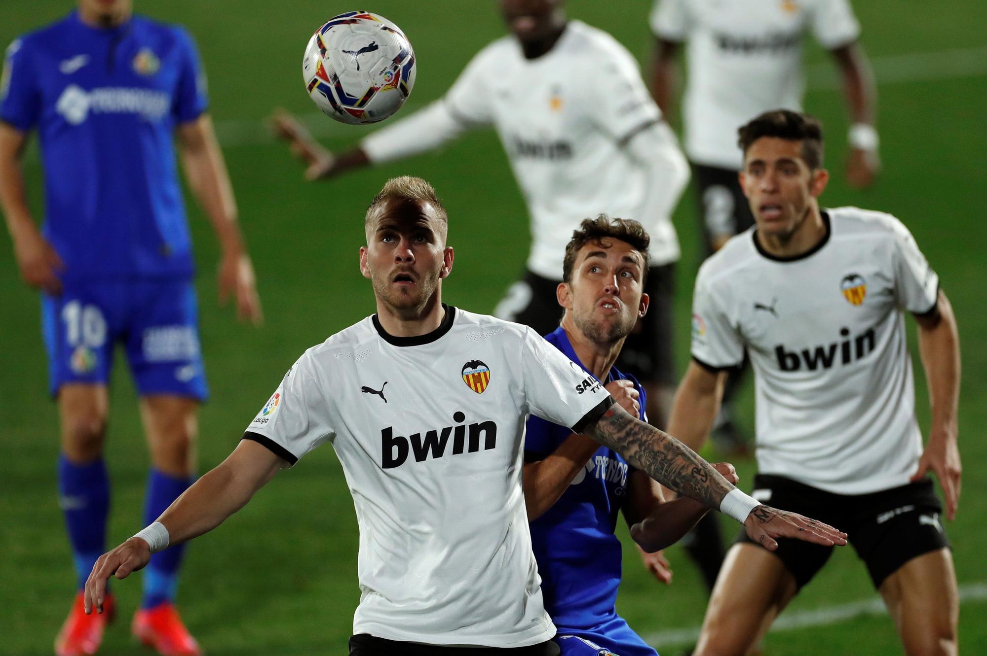 Las imágenes del partido entre el Getafe y el Valencia CF