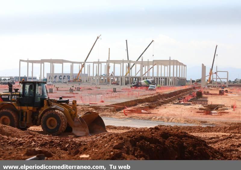 Así avanzan las obras del nuevo megacentro logístico de Amazon en Onda