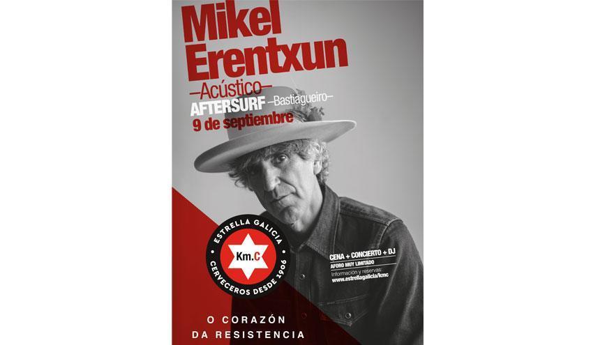 Mikel Erentxun actuará en el After Surf de Bastiagueiro con el ciclo 'Km C' de Estrella Galicia