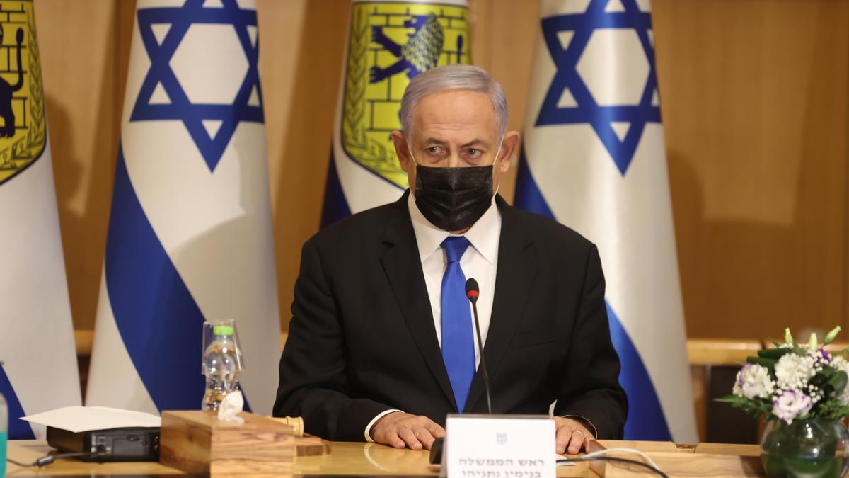 """Netanyahu desafía con """"derrocar rápidamente"""" el nuevo Gobierno si se forma."""