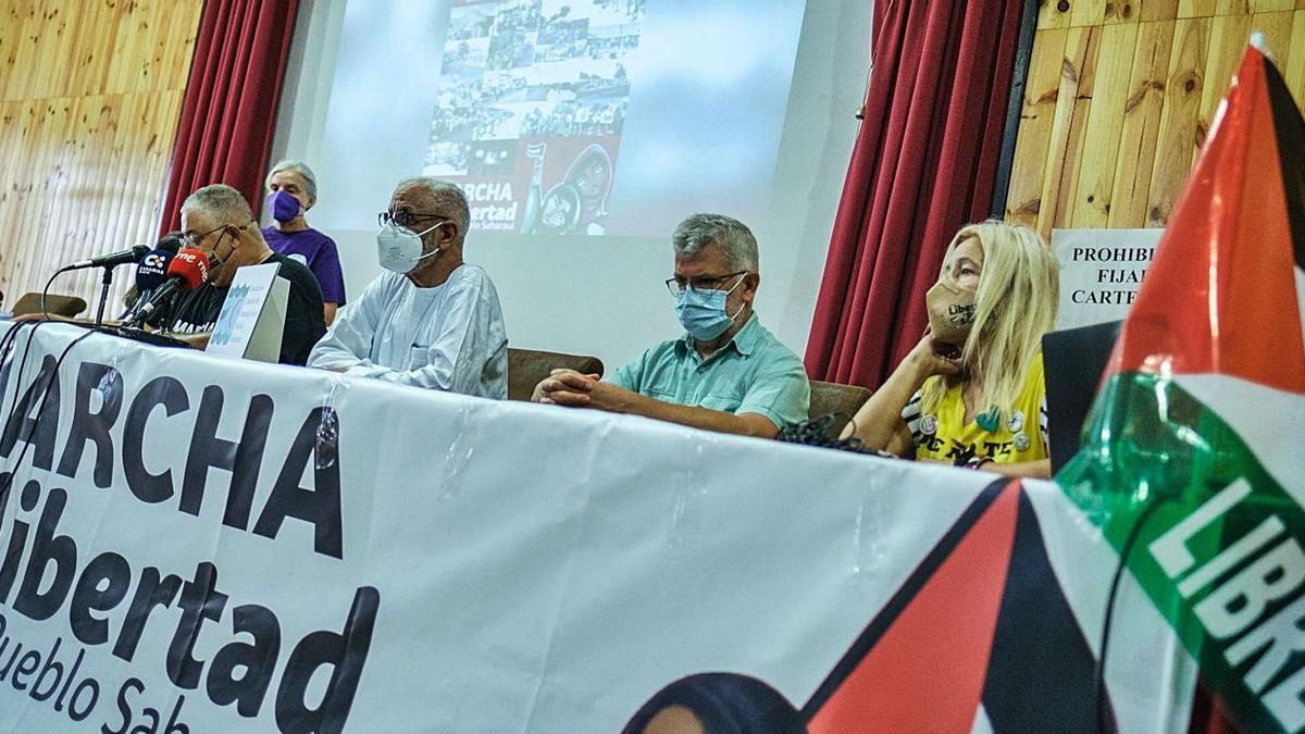 Rueda de prensa sobre la Marcha por la Libertad del Puebo Saharaui. | | ANDRÉS GUTIÉRREZ