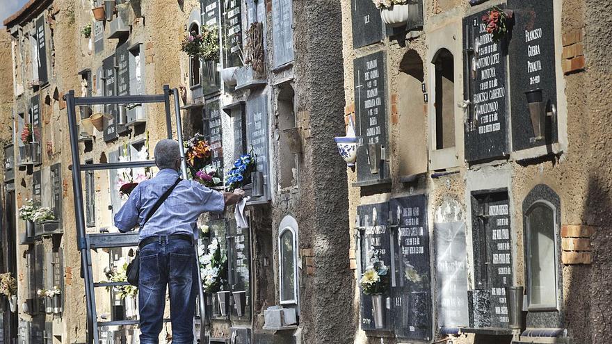 El cementerio rescata al año 200 nichos abandonados tras localizar a los herederos