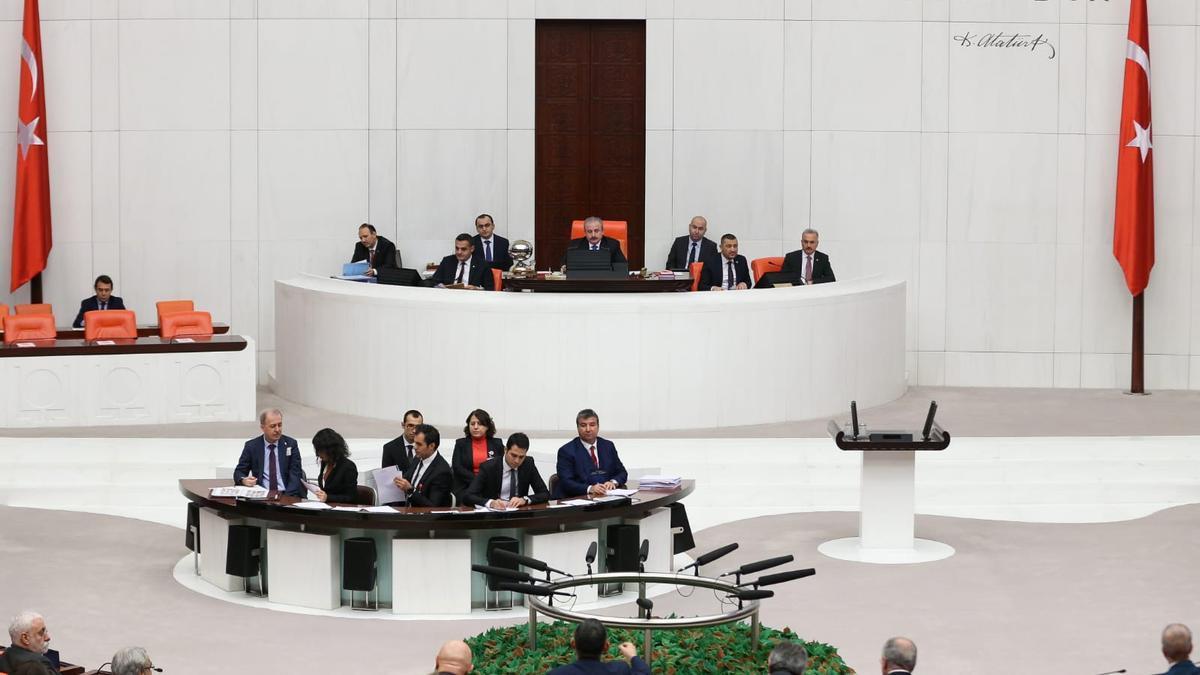 Sesión del Parlamento de Turquía.