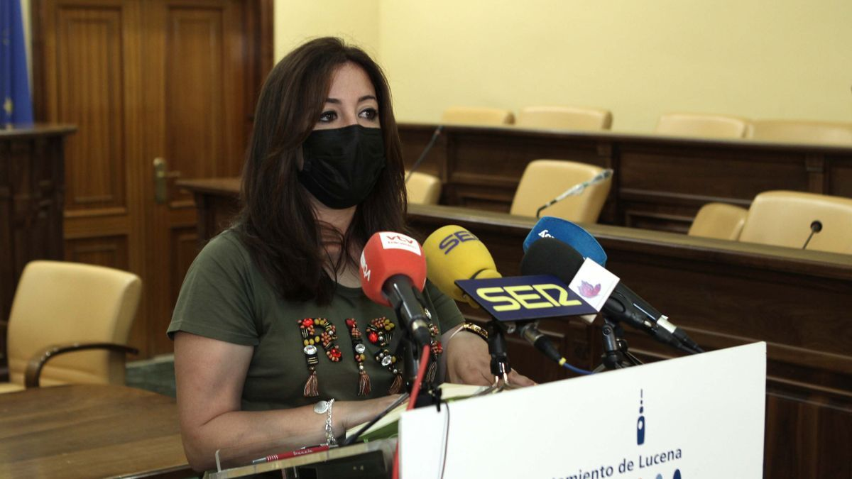 Lourdes Parra, durante la rueda de prensa.