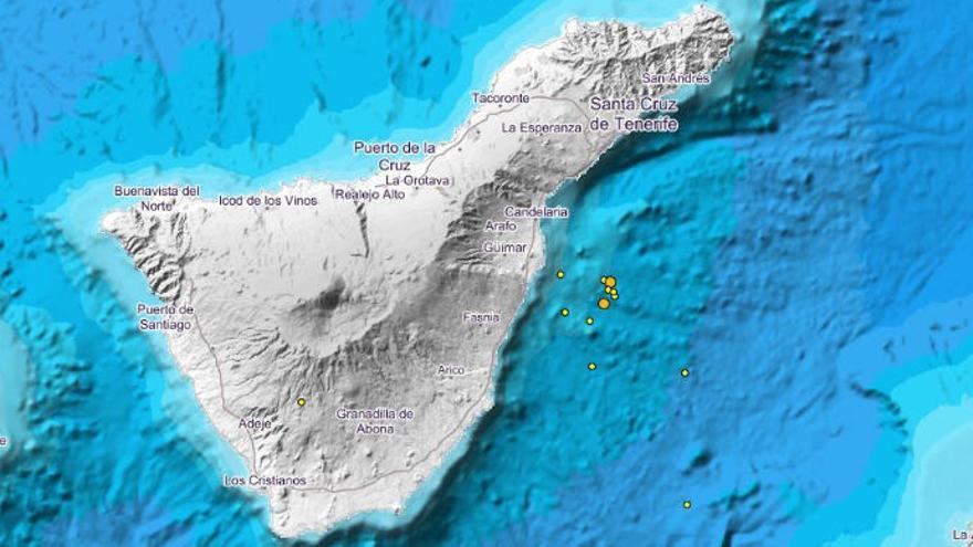 Vilaflor, Adeje y la costa de Güímar registran un nuevo enjambre de 30 terremotos