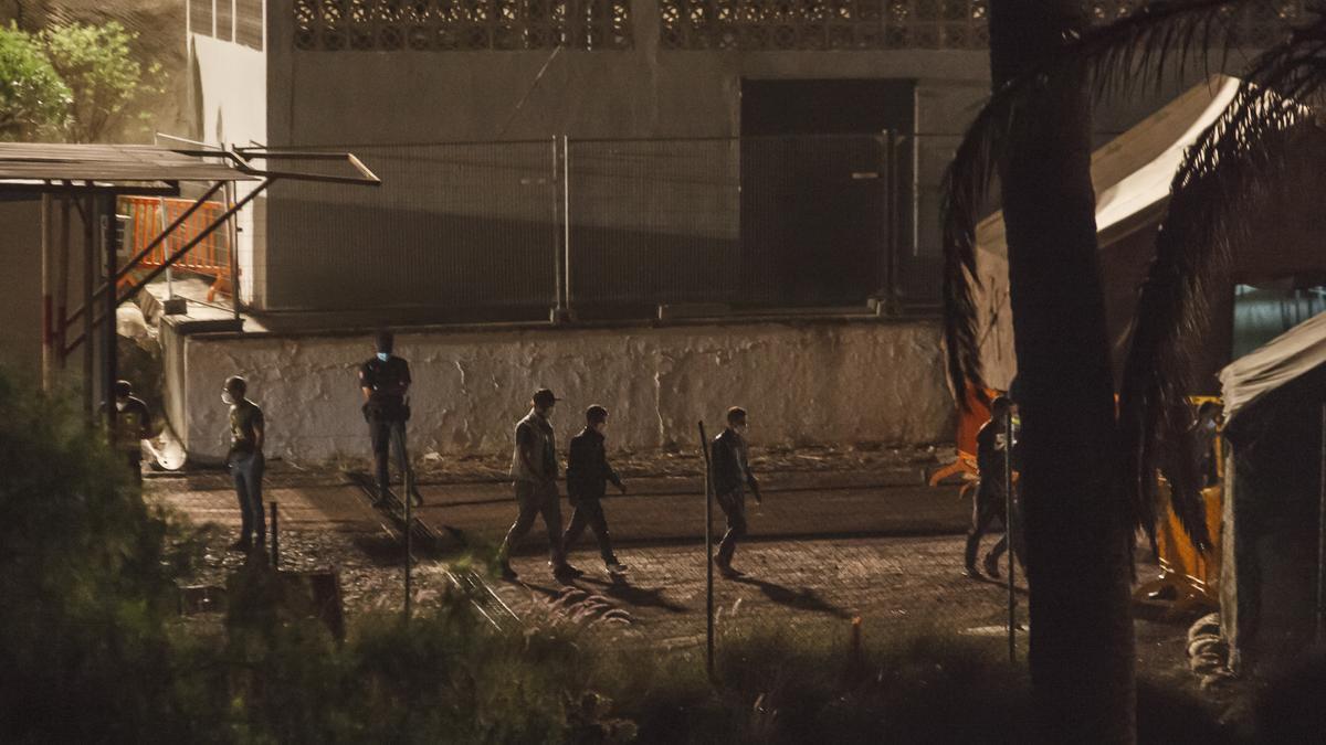 Inmigrantes en Barranco Seco.