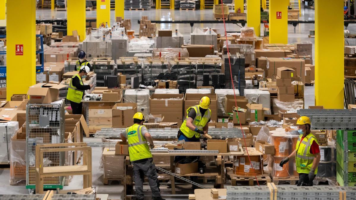 Un almacén de Amazon.