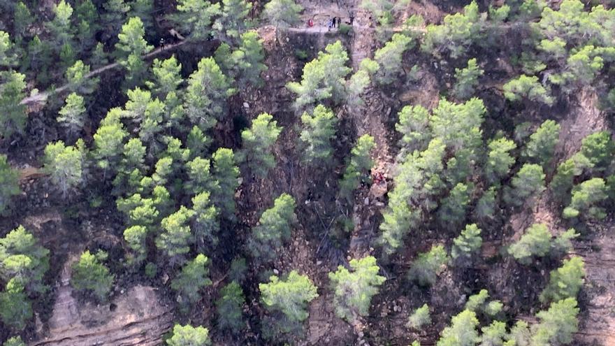 Rescatan por aire a un ciclista gravemente herido en la Sierra de Carrascoy