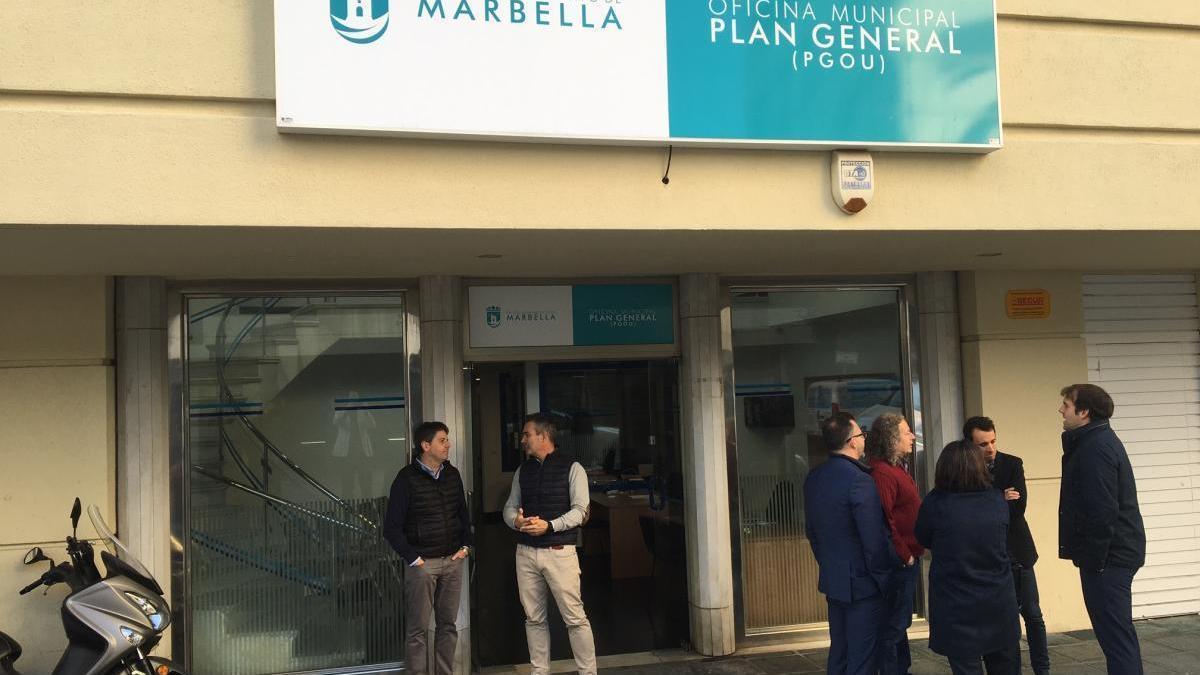 Oficina de los redactores del PGOU de Marbella.