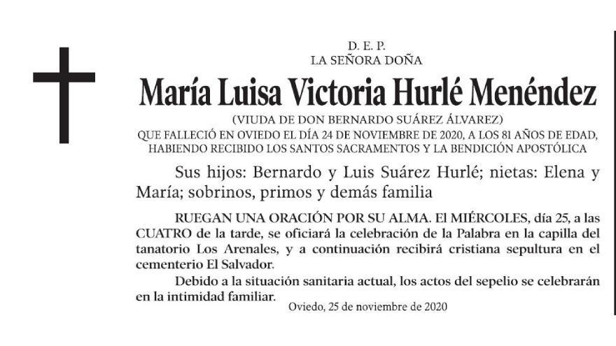 María Luisa Victoria Hurlé Menéndez