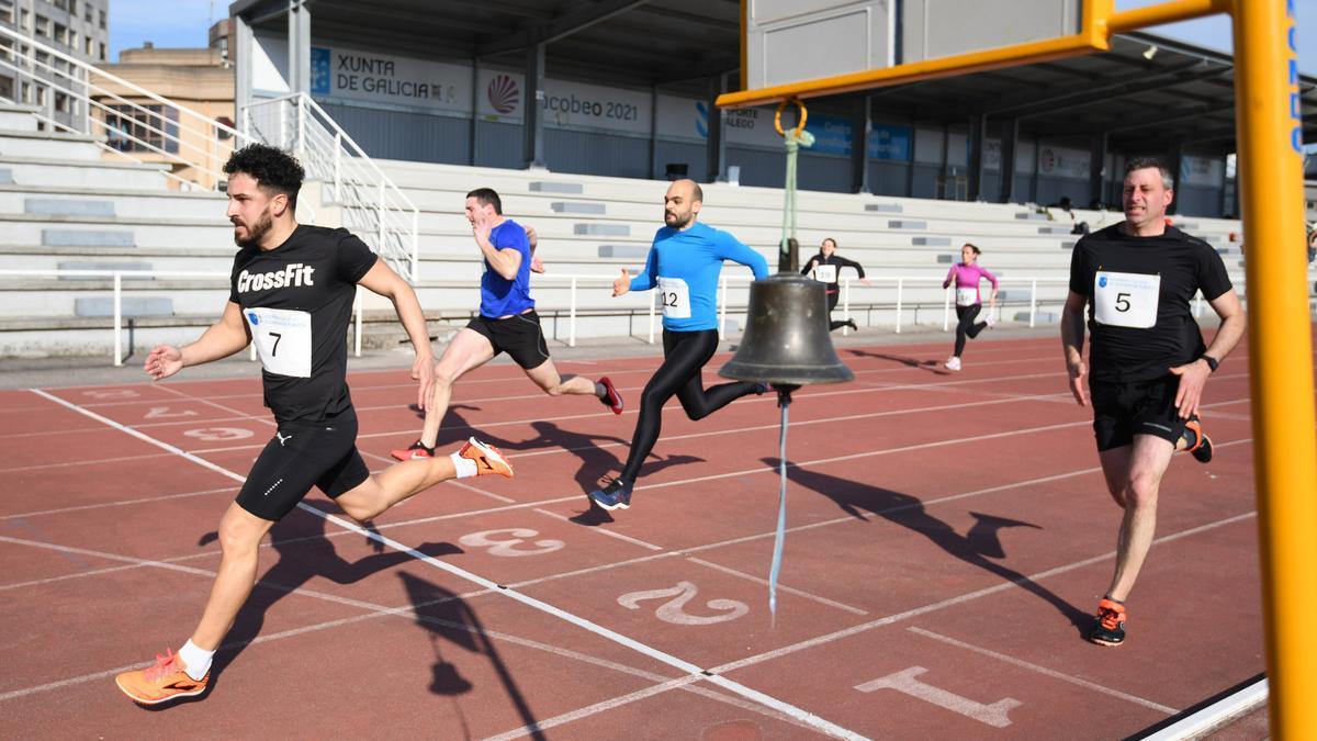 Una de las pruebas físicas celebradas ayer en el CGTD.
