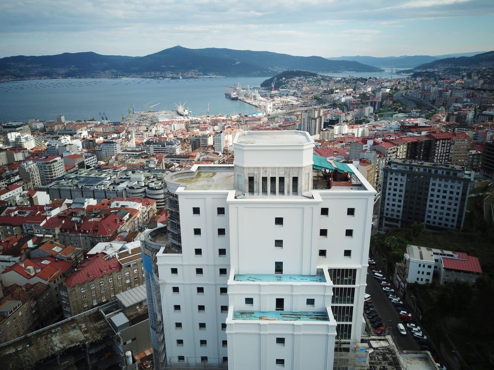 Así se ve Vigo desde la cúpula del Pirulí