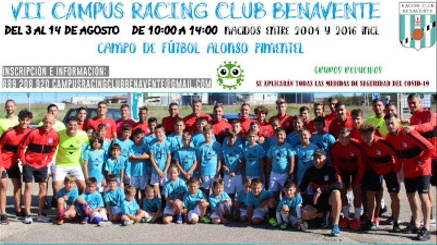 Campus de fútbol de verano del Racing Club Benavente