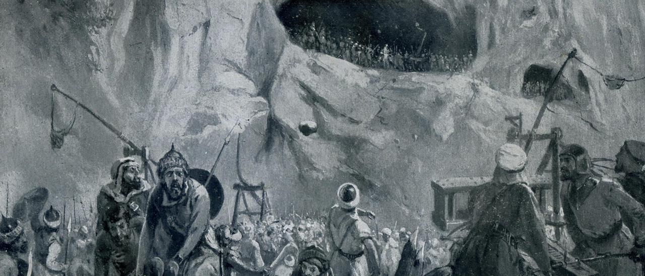 Recreación de la batalla de Covadonga.
