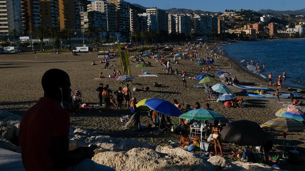 Una playa de Málaga