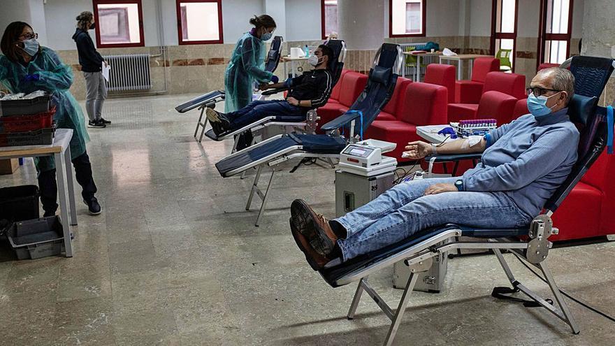 Los donantes acuden a la llamada de la Centro de Hemoterapia de Zamora
