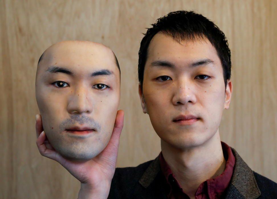 Shuhei Okawara, 30, owner of mask shop Kamenya ...