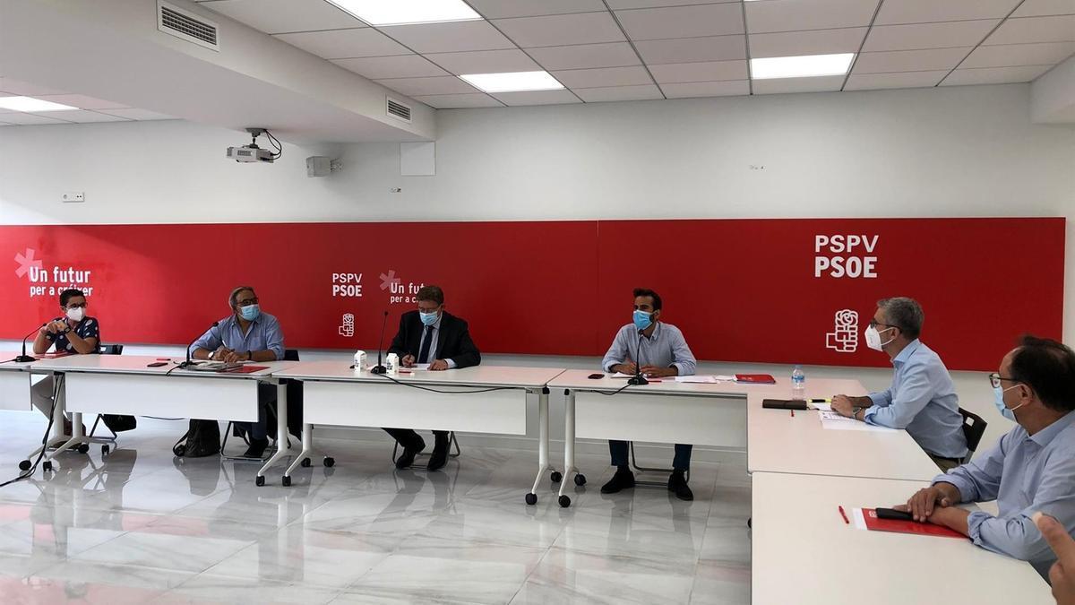Un momento de la Comisión Ejecutiva Nacional del PSPV celebrada este martes