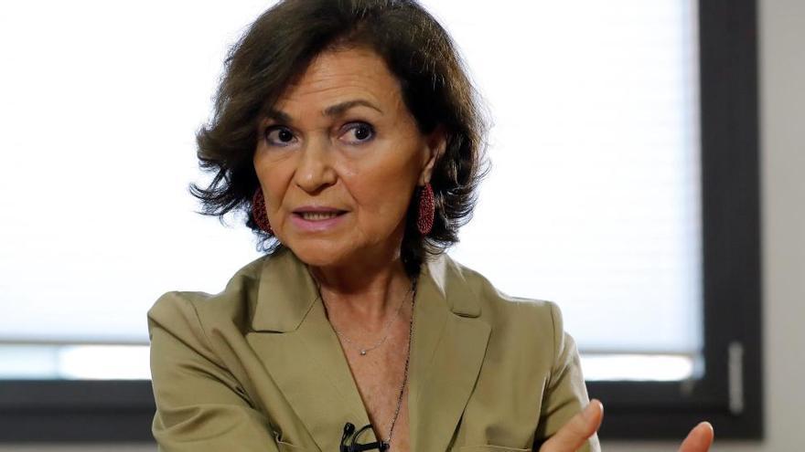 """Carmen Calvo: """"El Gobierno no se merecía el acoso irracional y constante"""""""