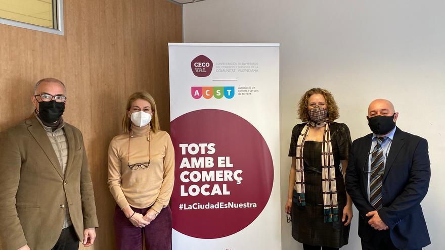 Folgado y De Rosa se reúnen con Confecomerç CV y la asociación de comerciantes de Torrent