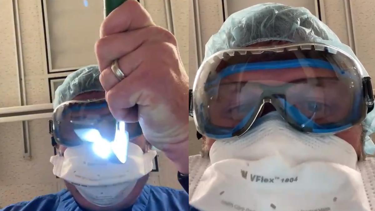 Kenneth Remy, médico, durante la simulación.