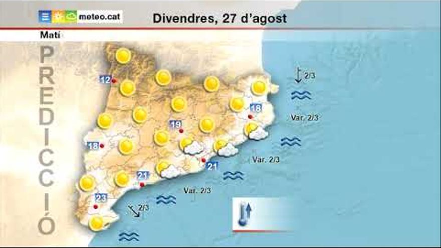 El risc per calor torna a Catalunya, on s'arribarà als 38ºC