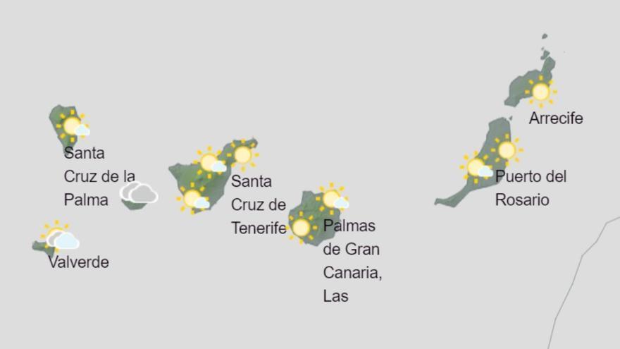 Posibles lluvias débiles este sábado en Canarias