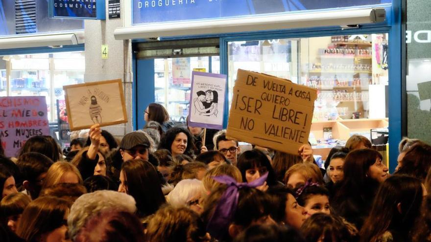 Una de las últimas manifestaciones en el Día de la Mujer en Zamora.