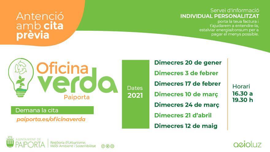 La Oficina Verde de Paiporta consigue un ahorro al vecindario de 10.181 euros