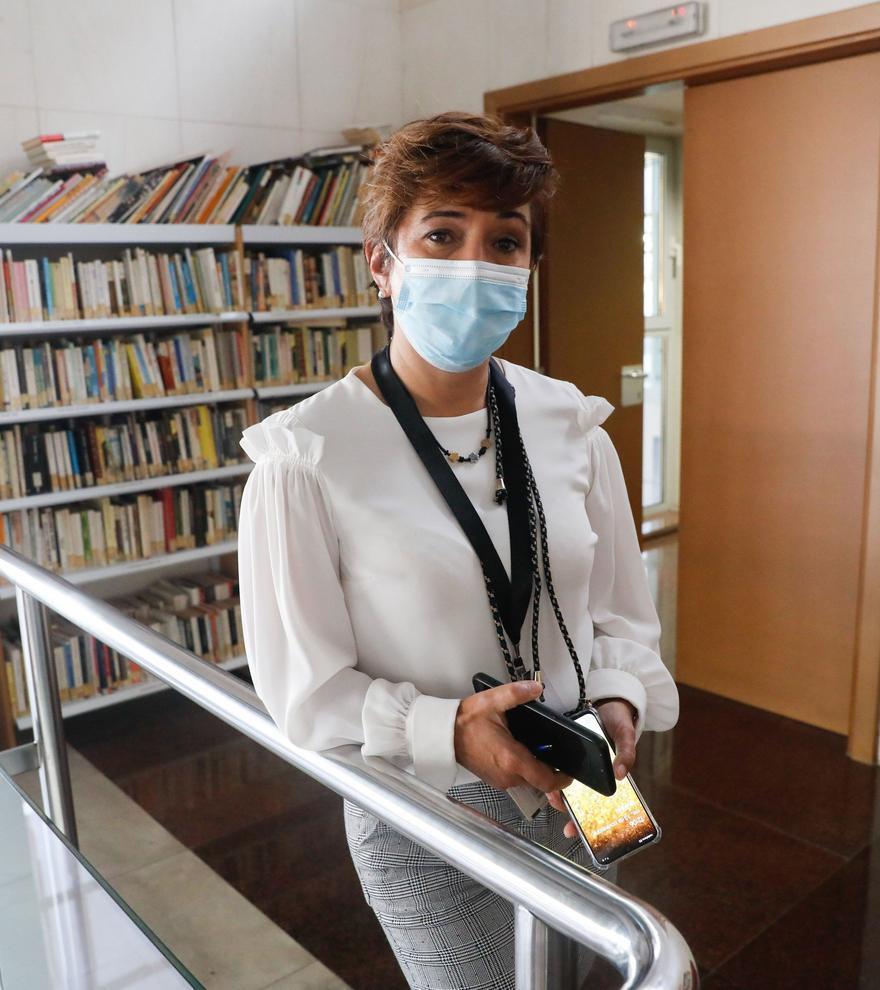 Marta Villamil, en su centro de salud.