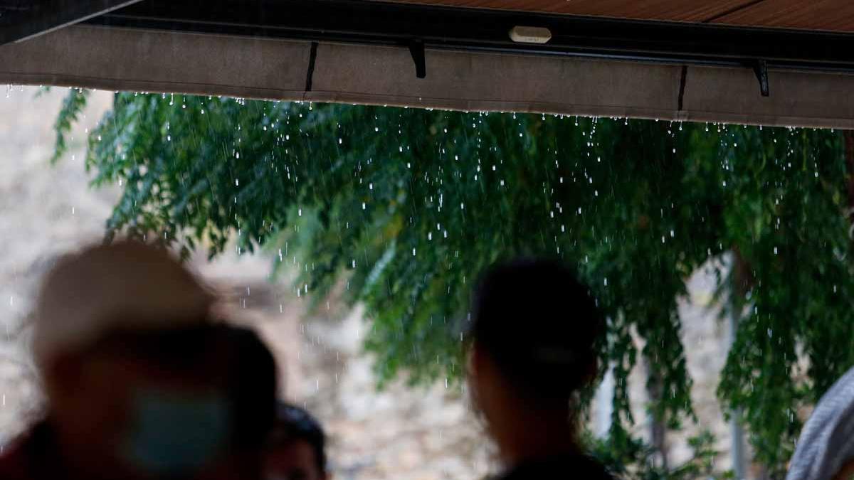 Imágenes de la lluvia torrencial en Ibiza y Formentera