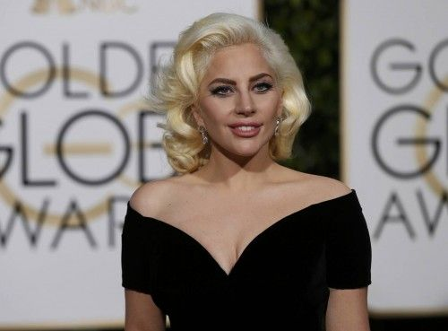 Singer Lady Gaga arrives at the 73rd Golden Globe Awards in Beverly Hills