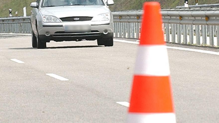 Las obras obligan mañana al corte puntual de un carril en la A-8 en Gijón