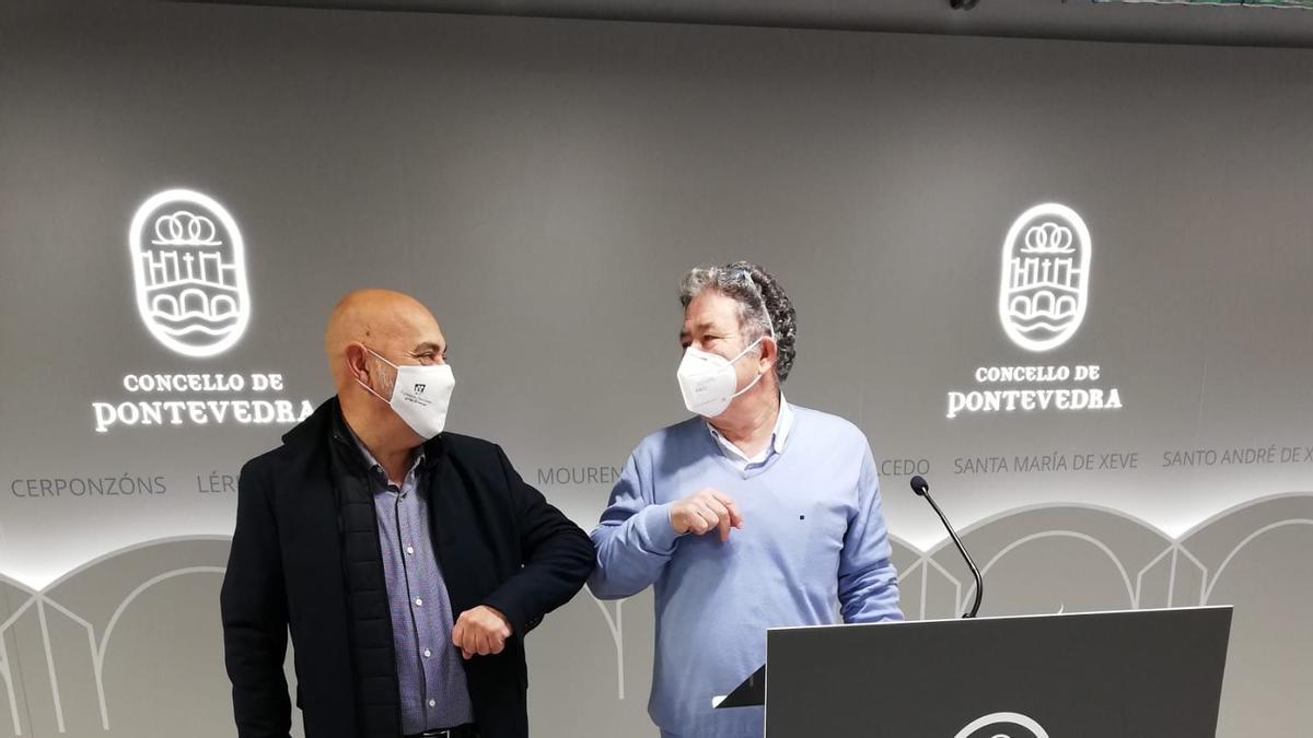 Agustín Fernández y Miguel Lores presentan los presupuestos para 2021