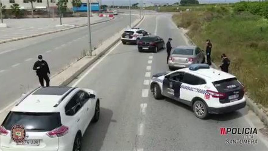La Policía Local de Santomera advierte a deportistas que se saltan el cierre perimetral