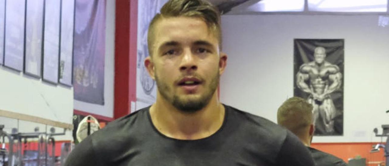 Anthony Yigit tras un entrenamiento con Carlos Formento.