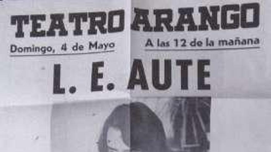 El primer concierto de Luis Eduardo Aute
