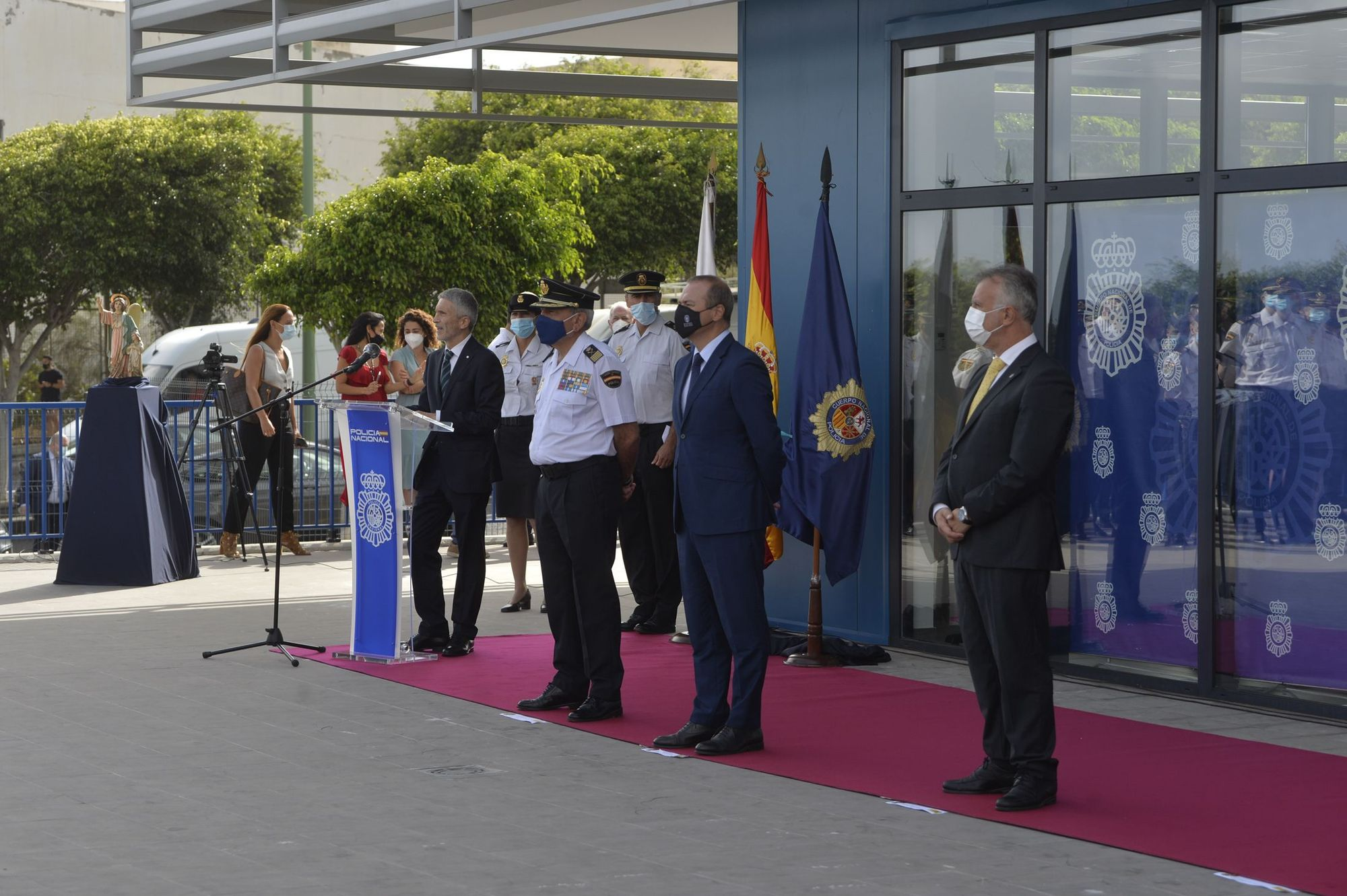 Inauguración de la comisaría de Distrito Centro de la Policía Nacional en Las Palmas