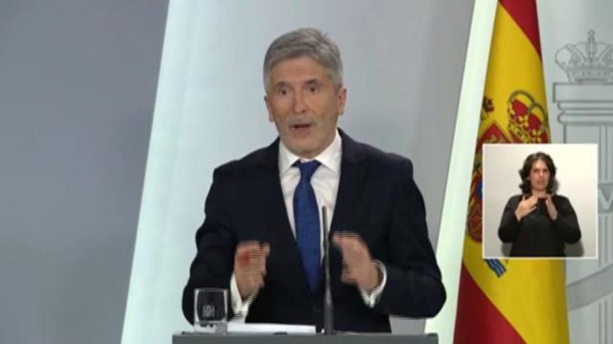 """Marlaska respon a Torra que el confinament decretat pel govern espanyol és el """"més dràstic"""" d'Europa"""