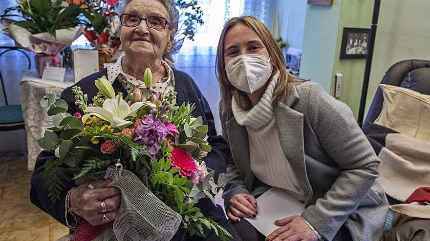 La gironina Maria Aurich fa 100 anys