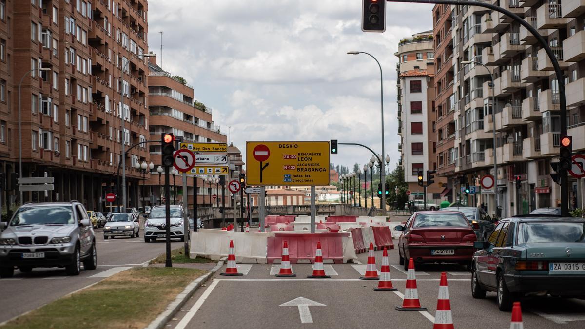Obras en la Avenida de Cardenal Cisneros.
