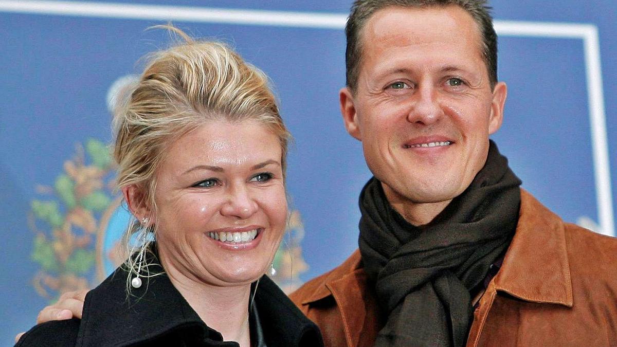 Corinna y Michael Schumacher, en una aparición antes del accidente del piloto.