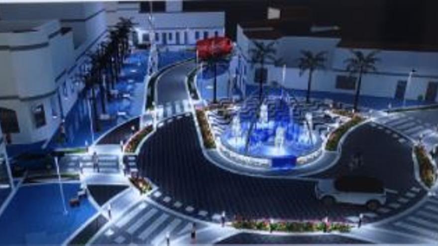 Inician las polémicas obras de reurbanización de la plaza de la Axarquía de Torre del Mar