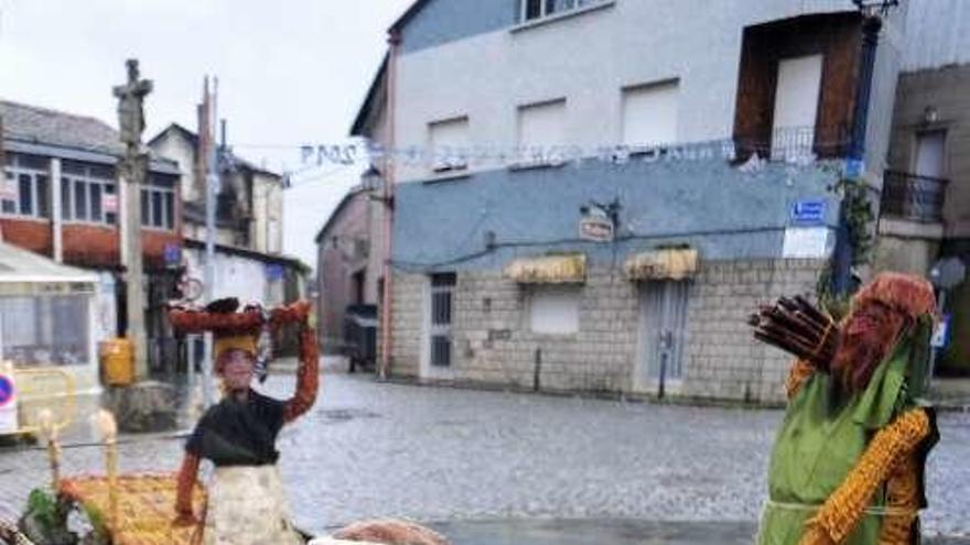 Porto: Derroche de imaginación en un Belén de maíz y mimbre