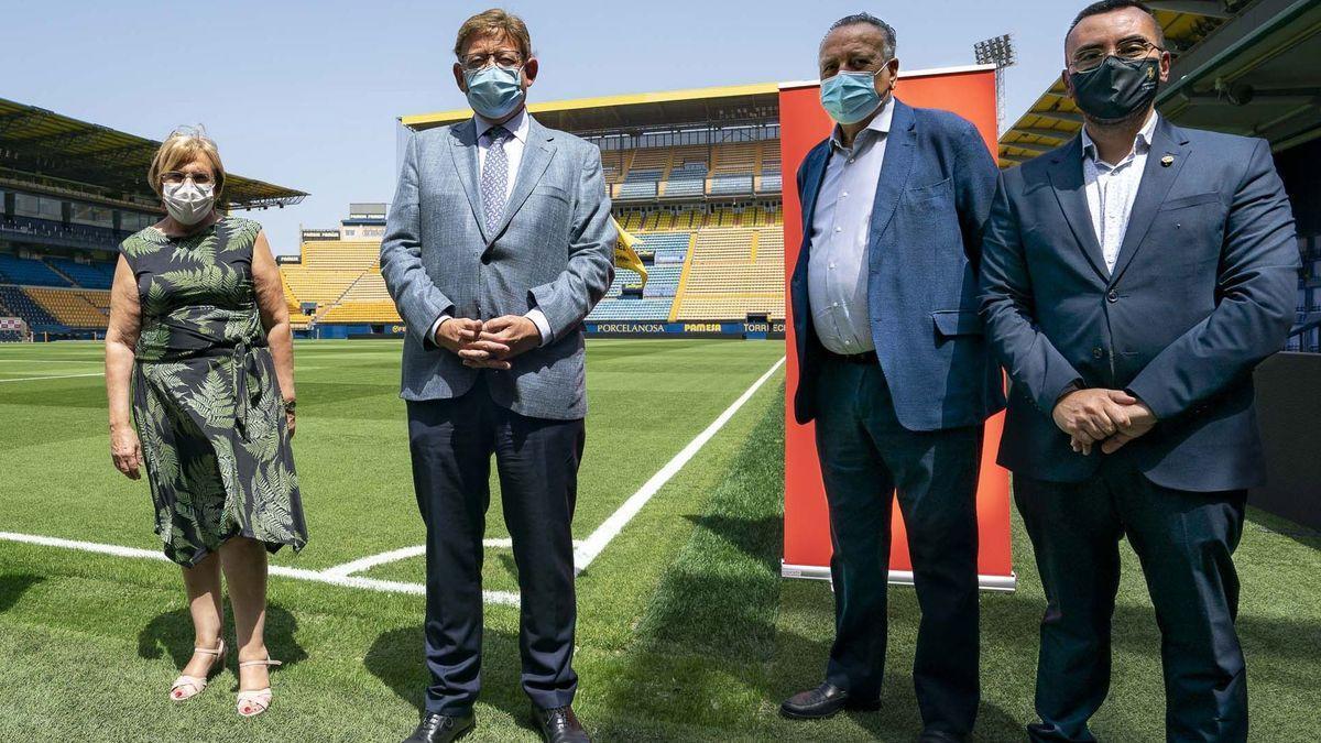Ximo Puig visita el estadio de la Cerámica