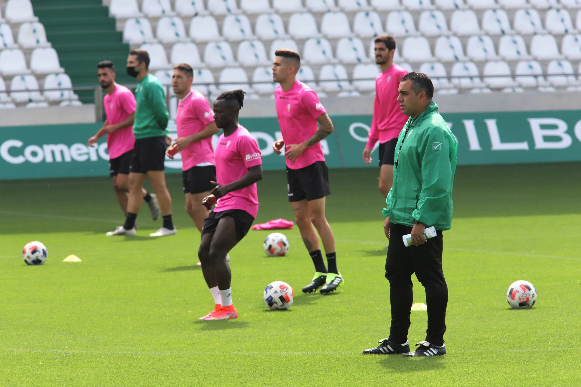 Primer entrenamiento de Germán Crespo como entrenador del Córdoba CF