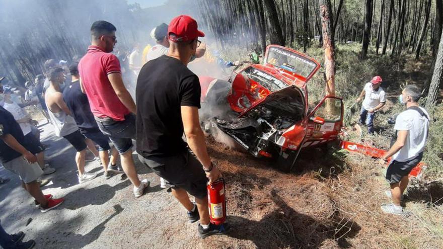 Trasladado un copiloto tras un accidente en el Rallye de Ourense